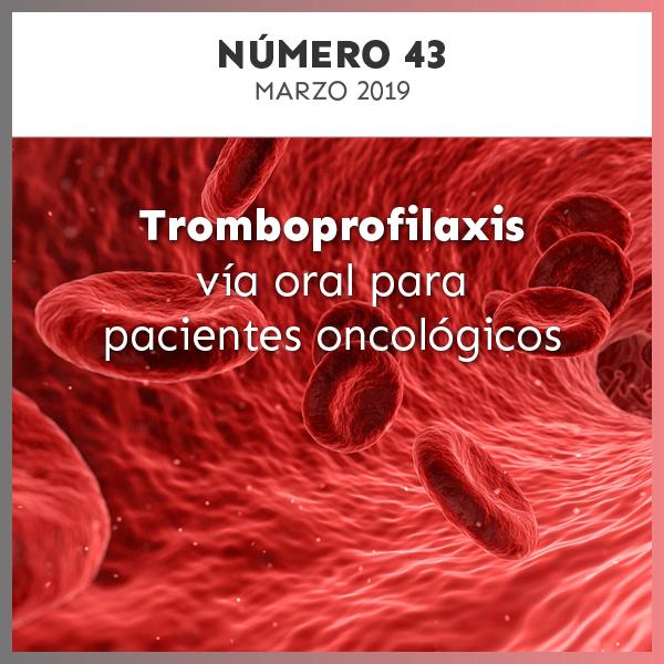 Tromboprofilaxis vía oral para pacientes oncológicos